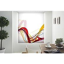 Blindecor W-V-28517 - Estor enrollable translúcido, estampado digital, 130 x 180 cm, multicolor