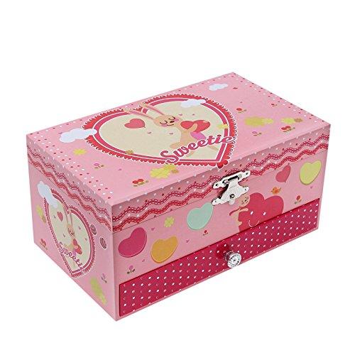 Songmics Schmuckkästchen Musikspieldose Spieldosen Musikdosen Spieluhren - Spieluhr für Kinder mit Spiegel JMC002 - 4