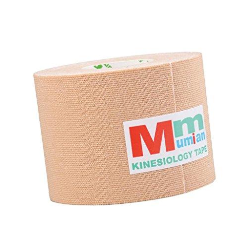 FLAMEER Wasserdichte Ungeschnittene Muskelunterstützung Sport Kinesiologie Tape Streifen - Hautfarbe, 2 Zoll