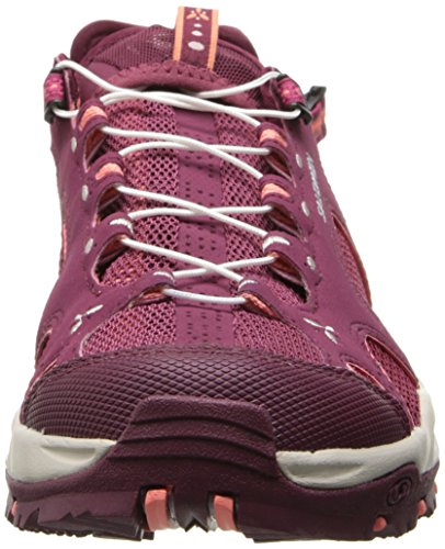 Salomon Techamphibian 3, Chaussures de Marche Nordique Femme, Light Onix White Lucite Green Rot (Bordeaux/Carmine/Melon Bloom)