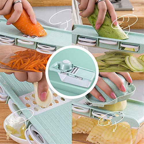 Nuoyi Multifunktions Manunal Mandoline Slicer Premium Gemüsereibe Cutter Peeler Julienne Slicer...