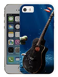 "Humor Gang Guitar Underwater Printed Designer Mobile Back Cover For ""Apple Iphone 5C"" (3D, Matte Finish, Premium Quality, Protective Snap On Slim Hard Phone Case, Multi Color)"