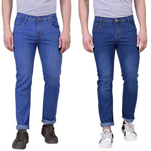 London Looks Men Slim Fit Multi Color Jeans (Combo Of 2) (36)