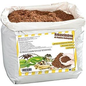 [Gesponsert]20 Liter natürliches Terrariensubstrat lose im Beutel- trocken und streufähig - 100% reine Kokoserde als Kokoseinstreu Bodengrund Kokossubstrat