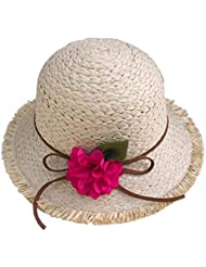 Stylish Kids Summer Straw Hat Beach Sun Protection Chapeaux pour les filles, E