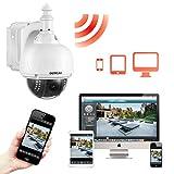 Dericam WLAN IP Kamera, Überwachungskamera Außenbereich, PTZ Kamera, 4-Fach optischer Zoom, Autofokus, mit 32GB Speicherkarte (vorinstalliert), S1-32G, Farbe weiß - 5
