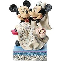 Disney Tradition 4033282 Topolino & Minnie Resina, Design di Jim Shore, 17 cm