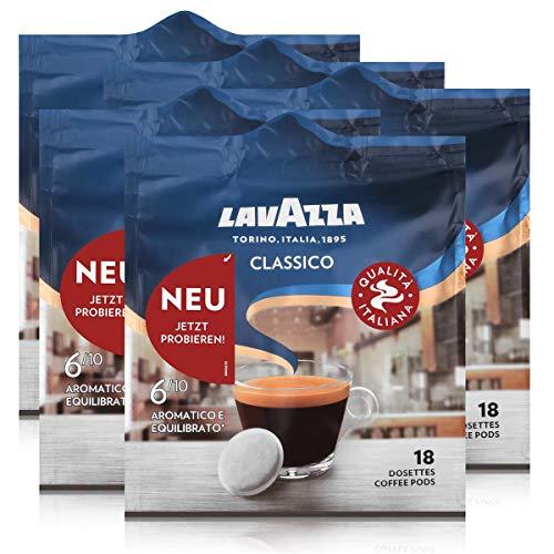 Lavazza Kaffeepads Classico 18 Pads - Für Kaffee-Padmaschinen 125g (5er Pack)