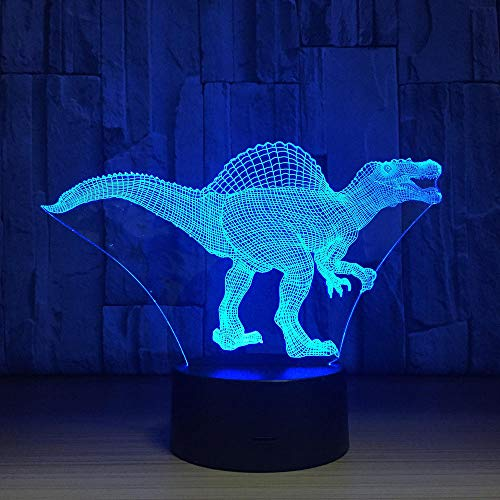 French Day Deal Dinosaur LED Lamp USB 3D Lamp 7 Colors Touch Sensor Bedroom Lights Atmosphere Decoration Lighting Novelty Gifts