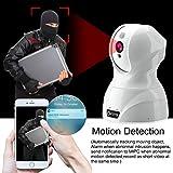 Dome Kamera - Atuten WiFi IP Kamera 1536P Wireless Überwachungskamera,Smart Home Kamera mit Nachtsicht,Auto-Rotation,2 Wege Audio,Bewegungsalarm,64G TF Card,Baby Monitor,Kompatible mit Alexa Echo Show - 5