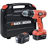 Black + Decker EPC14CABK Perceuse sans fil avec 2 batteries (14.4V)