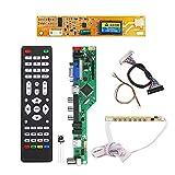 GHC USB Cables, T.RD8503.03 Universale LCD LED TV Controller Scheda Driver, TV/PC/VGA/HDMI/USB + 7 Chiave del Tasto + 2ch 6bit 30pins LVDS Cable + 1 Lampada Inverter
