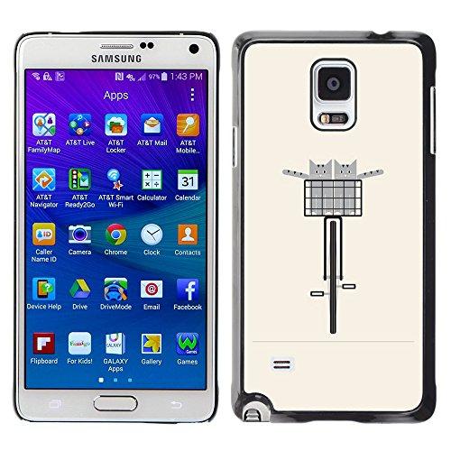 WonderWall Carta Da Parati Immagine Custodia Rigida Protezione Cover Case Per Samsung Galaxy Note 4 (Pesche Vita Bassa Dei Pantaloni)