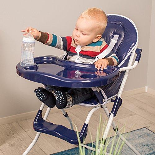 TecTake® Kinderhochstuhl Babyhochstuhl klappbar blau - 2