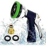 TedGem tuyau d'arrosage à 9 modes d'arrosage part pulvérisateur d'eau haute pression injecteur - réglable à domicile - antidérapant - jardin, pelouse, au lavage, nettoyage, lavage d'arroser les plantes et animaux de compagnie