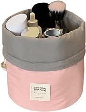 Aulei Runden Kulturbeutel Kordelzug Waschbeutel Make up kosmetische Reisetaschen Wash Bag