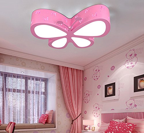 Kronleuchter Deckenleuchten Rosa Schmetterling, niedlich LED Deckenleuchten für Wohnzimmer Schlafzimmer Mädchen und Babys -