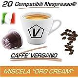 """Capsule Compatibili Nespresso®, Kit Assaggio da 20 Capsule Caffè Vergano Miscela """"Oro Cream"""" Linea Espresso - Il Vero Caffè Italiano"""
