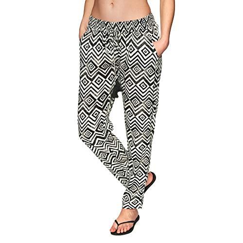 Rip Curl Moon Tide Pant Damen,Hose,Pants,Beachwear,Stoffhose,lang,lässig,Black,XL - Hippie Womens Outfit