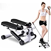 HUKOER Health Fitness Mini StepperFootPedal Machine HomeStair StepperEquipment MuteStep MachinePortableStepping MachinewithResistance Bands