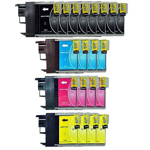 20x 8444 Drucker Patronen ersetzen Brother LC980 LC1100