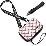Handy Umhängetasche - Mode Damen Schultertasche Klein Geldbörse Crossbody Handtasche - Hart ABS+pc Kofferform mit Verstellbar Abnehmbar Schultergurt für Handy unter 6.5 Zoll