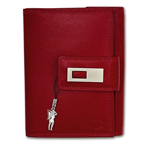 Geldbörse rot XL Brieftasche Portemonnaie Leder Old River großes Portmonee - DrachenLeder OPD701R (Tri-fold River Wallet)