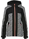 O'Neill Damen Allure Jacket Snow, White AOP w/Black, L