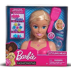 Giochi Preziosi- Barbie Busto Maquillaje-Peinados, Multicolor, Norme (BAR28000)