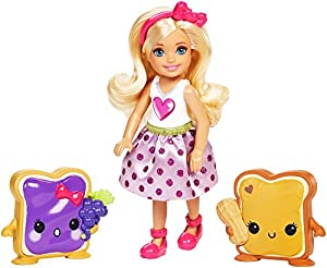 Mattel- Muñeca Chelsea y Sus Amiguitos con Accesorios-Barbie, Multicolor (Matel FDJ09)