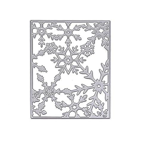 Loegrie DIY Flocon de neige Cadre de coupe Dies Pochoirs Moules Album de scrapbooking en papier gaufrage