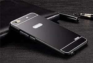 Luxury Aluminium Frame Acrylic Back Cover Case Bumper For Huawei Honor 4C 4 C- Black