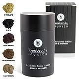 #benebeauty® Hair Fibers - Haarverdichtung - Schütthaar - Haarpuder - Streuhaare - Haarfasern - 25 g, Farbe:Braun