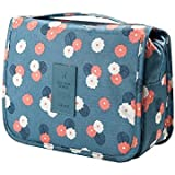 Glive's Nylon Multicolour Cosmetic Bag with Hanging Hook for Men and Women
