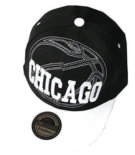 Casquette Snapback - Baseball - Chicago noir blanc