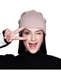 FLY HAWK Cappello Beanie di Lana da Donna Invernali - Berretto Cuffia  Elastici Donna Ragazza Elegante a476c8069e44