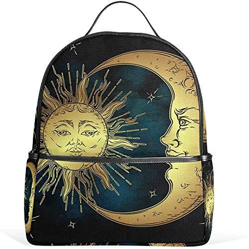 Mochila Escolar Ligera Sun Moon para niños, niñas y niños