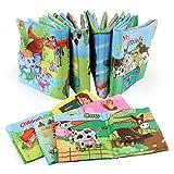 YeahiBaby Libro di stoffa per neonato Giocattolo educativo precoce non tossico per bambini