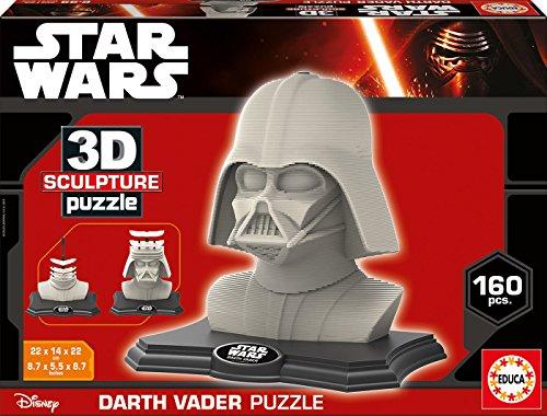 3D Sculpture – Puzzle con diseño Darth Vader (Educa Borras 16500)