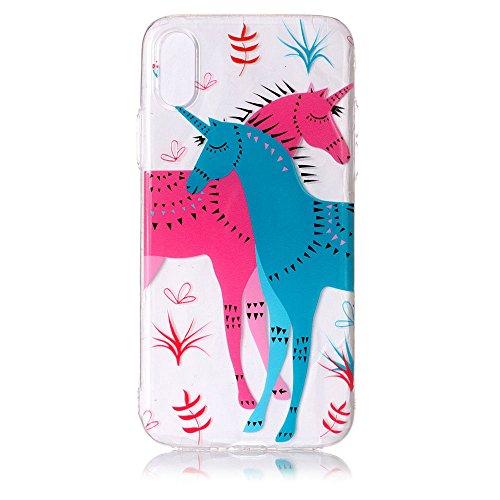 3x iPhone X Hülle, BENKER Kreativ Anti-Kratz Nicht Verblassen 3D Relief Malerei TPU Silikon Telefon Fall - Paket 2 Paket 3
