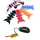 ICYANG 10 Stücke Silikon Fischgräte Kabel Organizer Ohrhörer Kabelaufwickler Kopfhörer Draht Wrap Halter Zufällige Farbe