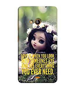 Fuson Designer Back Case Cover for Microsoft Lumia 535 :: Microsoft Lumia 535 Dual SIM :: Nokia Lumia 535 (Personality Messages One Liner Choice Quotation)