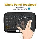 Mini clavier sans fil et souris, Okela 2,42,4GHz Panneau complet Touchpad Handheld à distance pour Android TV Box, Windows PC, HTPC, IPTV, Raspberry Pi, Xbox 360, PS3, PS4(Noir)