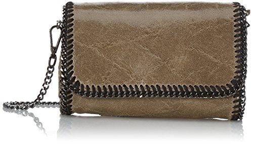 Chicca Borse Damen Unterarmtasche, 20 cm Grau (Fango)