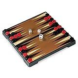 Juego - Backgammon Reisespiel für Kinder und Erwachsene I Kompaktspiel I Magnetspiel I Gesellschaftsspiele für Unterwegs - Mehrfarbig