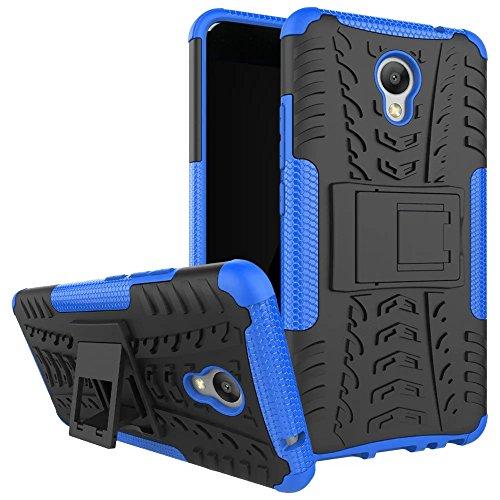 Meizu M5 note Hülle, SMTR 2in1 Ultra Slim Silikon Rückseite Schutzhülle, mit Standfunktion und Advanced Shock Absorption Technology hülle für Meizu M5 note , Blau