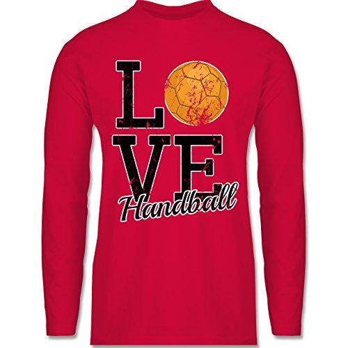Shirtracer Handball - Love Handball - Herren Langarmshirt Rot