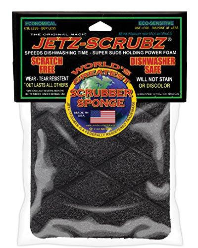 "Jetz-Scrubz Scrubber Sponge, Rectangular, Synthetic, Multi, 5"" L x 4"" W"