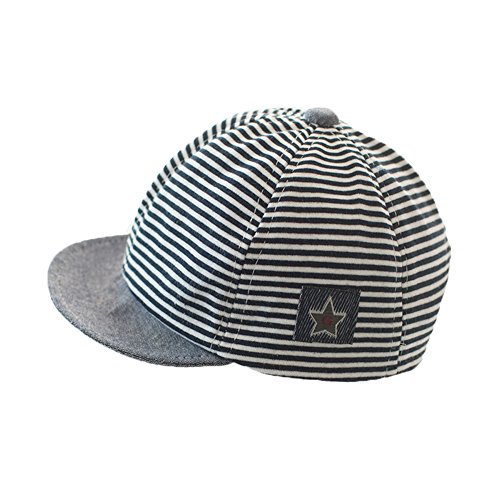 Newborn Baby Boys Girs Cotton Stripe Baseball Cap Sun Protection Newsboy Hat Beanie Beret Cap Stars Flat Cabbie Hat Gatsby Cap Spring Summer Anti UV Sun Hat Travel Casual Dress Cap for Baby 3-12 Months