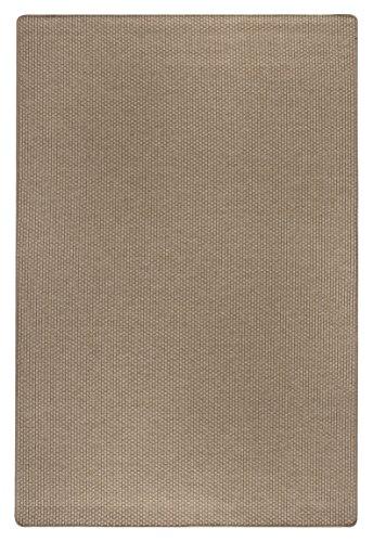 Webteppich Kurzflor Flachgewebe Wohnbereich Struktur creme-hellbraun 50 x 80 cm. Weitere Farben und Größen verfügbar